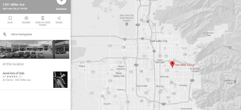 Contact Us Aerial Arts Of Utah - Utah-location-on-us-map
