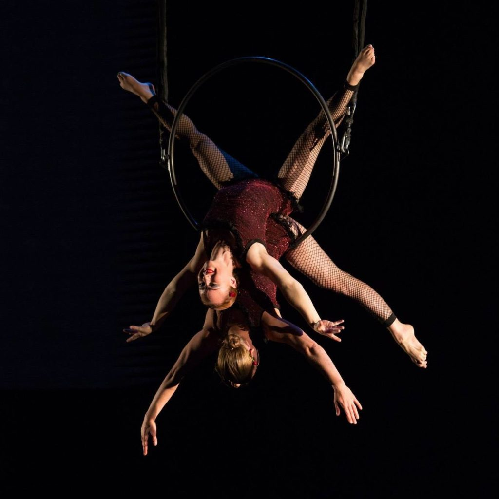 Nancy Carter duet on trapeze